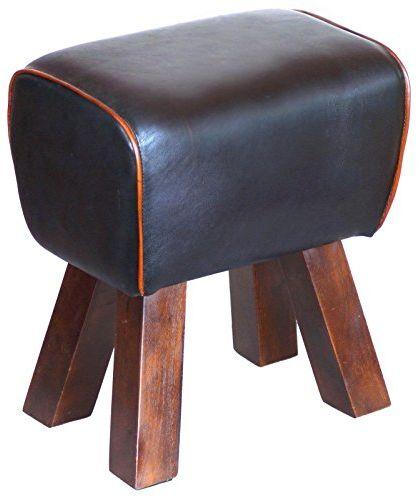 Esidra Hot Springs taboret do siedzenia, drewno, kolor czarny/brązowy, 1 x 1 x 1 cm