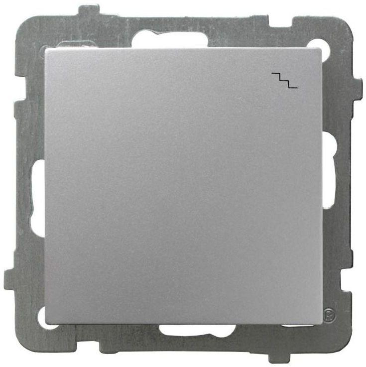 Włącznik pojedynczy schodowy AS srebrny OSPEL