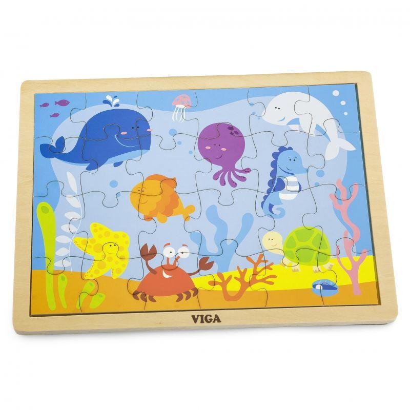 VIGA Drewniane Puzzle Ocean 24 Elementy LK