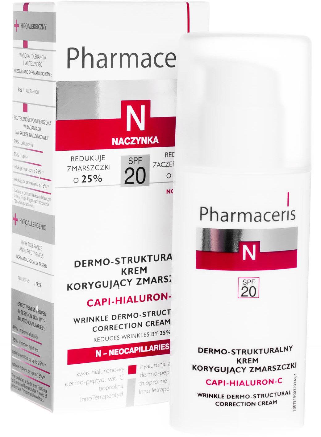 Pharmaceris N capi-hialuron-C dermo-strukturalny krem korygujący zmarszczki SPF 20 50 ml
