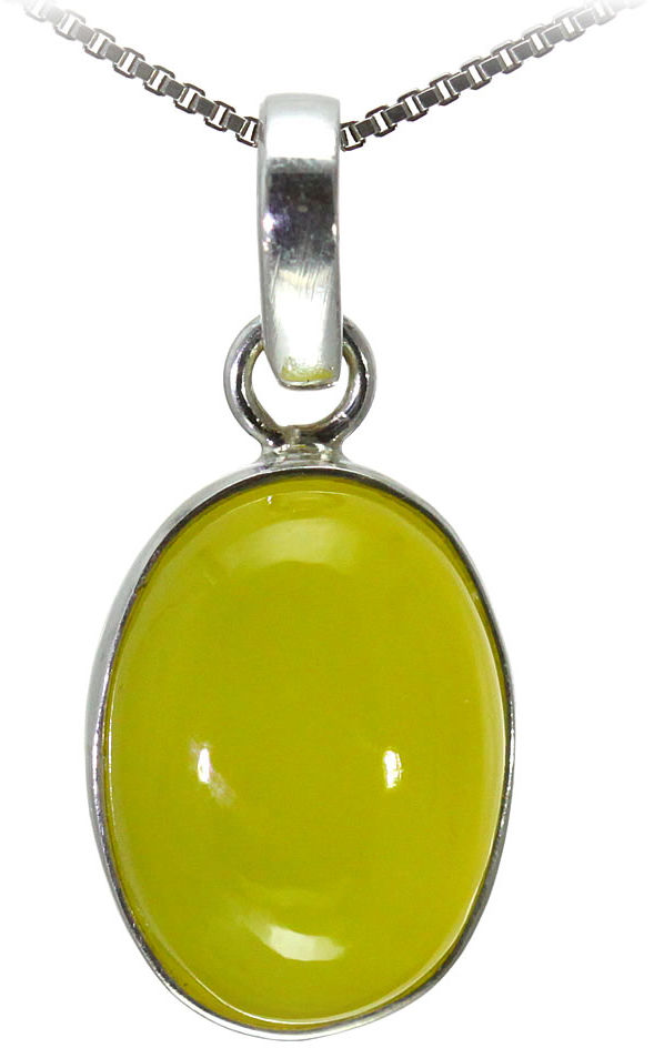 Kuźnia Srebra - Zawieszka srebrna, 31mm, Żółty Onyks, 6g, model