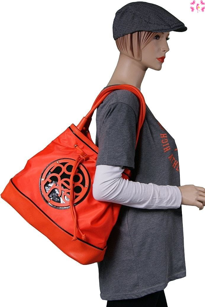 Miejska torebka -worek NOBO pomarańczowa