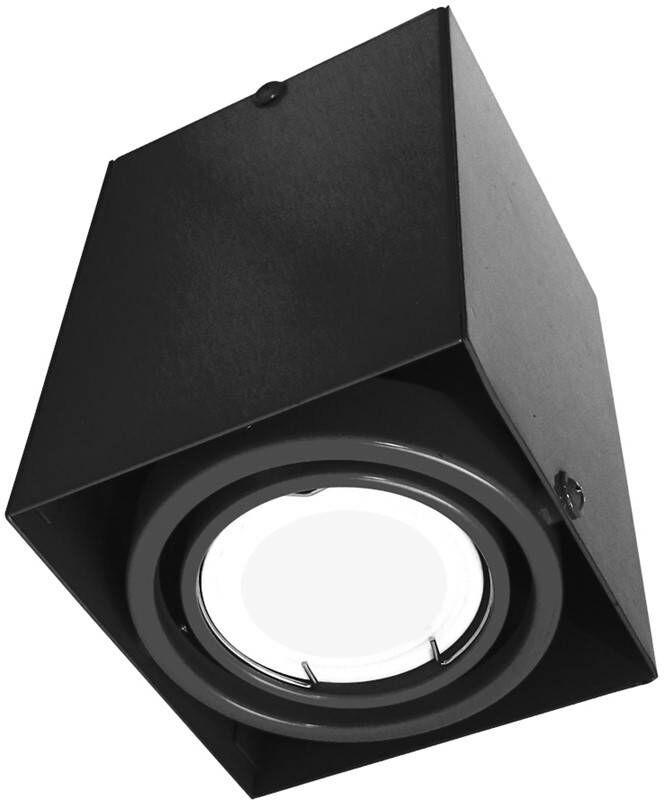 LAMPA SUFITOWA BLOCCO CZARNA 1x7W GU10 LED