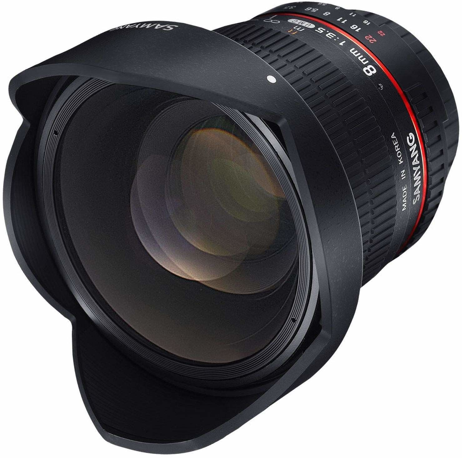 Samyang Obiektyw 8 mm F3.5 CS II do podłączenia Pentax K
