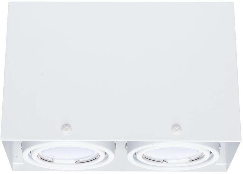 LAMPA SUFITOWA BLOCCO BIAŁA 2x7W GU10 LED