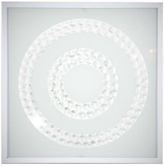 LUX LAMPA SUFITOWA PLAFON 29X29 16W LED 6500K BIAŁY PODWÓJNY RING