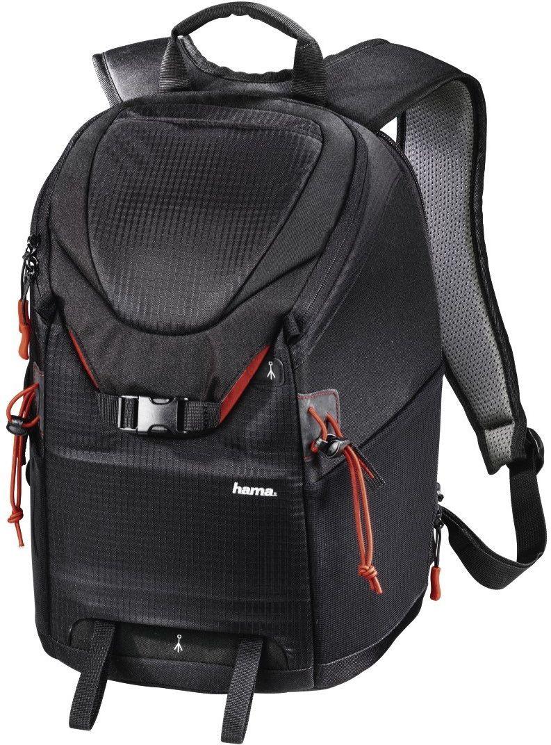 Hama Plecak na aparat DSLR i wyposażenie (plecak na zdjęcie, 15 l, szybki dostęp, kieszeń na tablet, ochrona przed deszczem, uchwyt na statyw, nadaje się do bagażu ręcznego) torba na aparat czarny