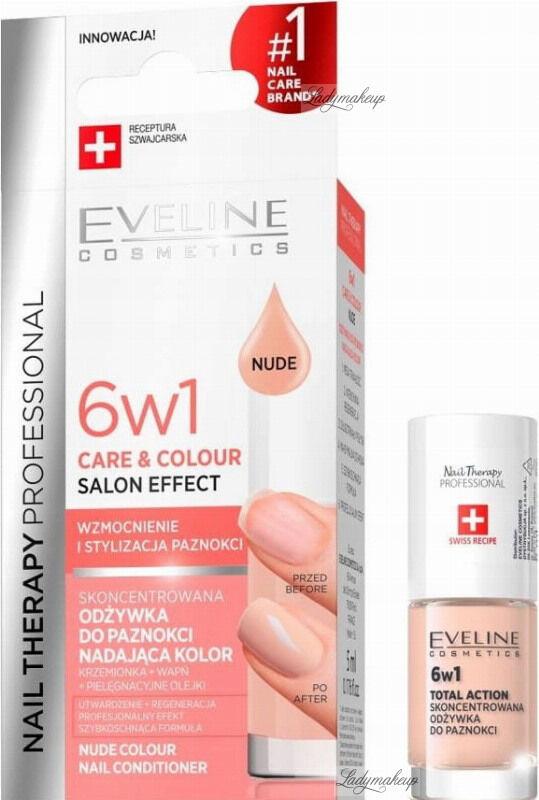 Eveline Cosmetics - NAIL THERAPY PROFESSIONAL - Colour Nail Conditioner - Odżywka do paznokci nadająca kolor 6w1 - 5 ml - Nude