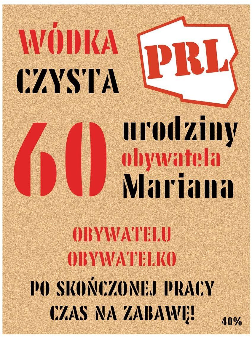 Etykiety personalizowane na butelkę PRL - 9 szt.