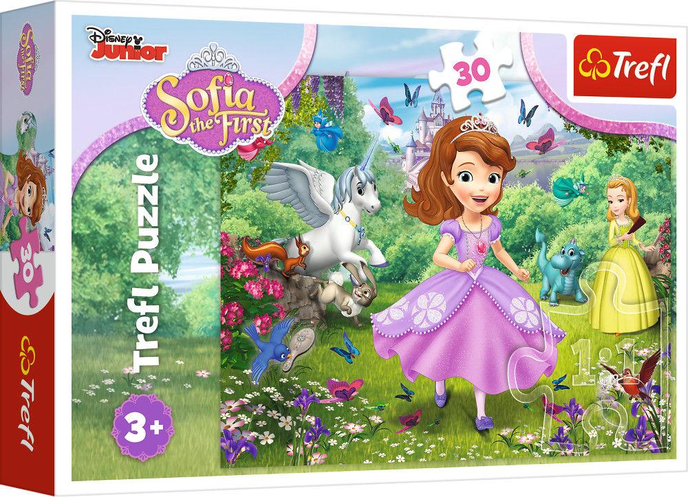 Puzzle dla Dzieci Jej wysokość Zosia 30 Elementów Zosia w ogrodzie TREFL
