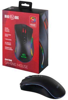 Mysz MAD DOG GM700 gamingowa 8000 DPI RGB LED przełączniki OMRON GRATIS SHAKER + 4 SASZETKI 4X10G DARMOWY TRANSPORT!