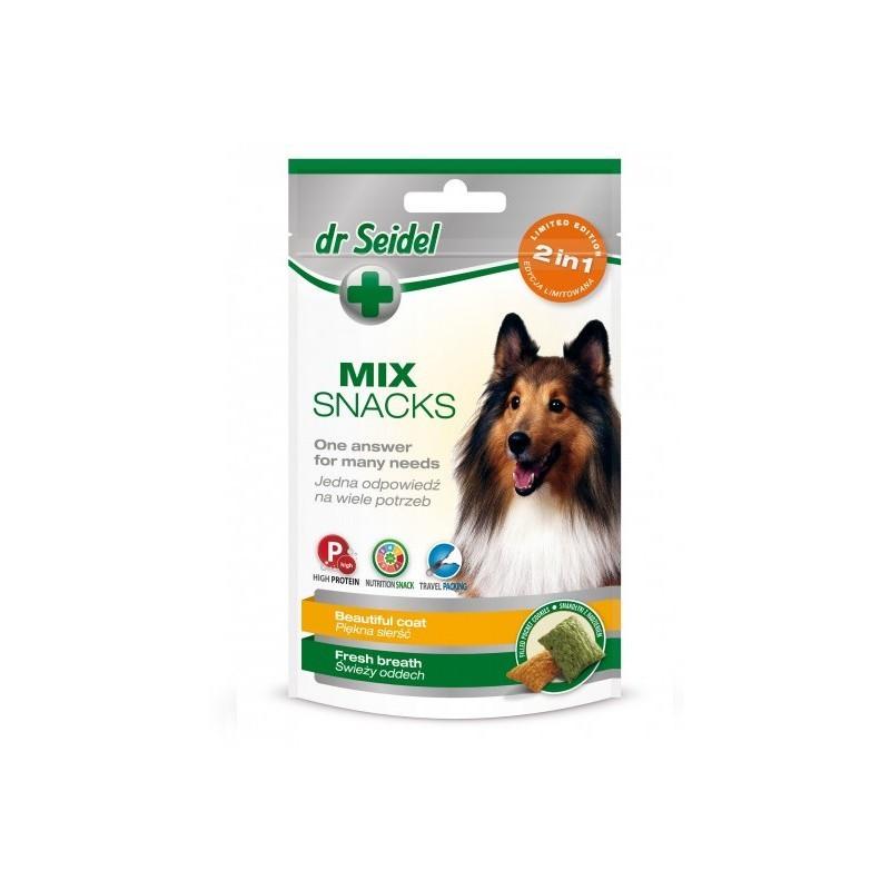 Smakołyki dr Seidla MIX 2w1 dla psów na piękną sierść & świeży oddech 90g