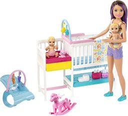 Barbie GFL38  Skipper fotelik dziecięcy wraz z zestawem do zabawy, lalki od 3 lat