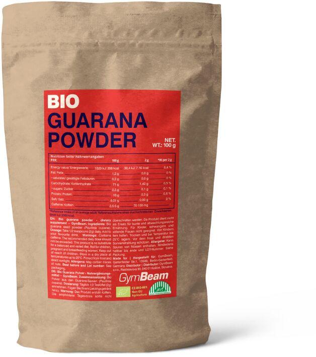 GymBeam BIO Guarana w Proszku 100 g