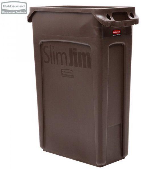 Kosz Slim Jim  With Venting 87L Brown