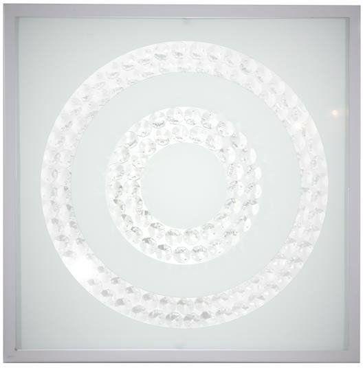LUX LAMPA SUFITOWA PLAFON 29X29 16W LED 6500K SATYNA PODWÓJNY RING