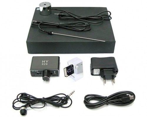 Podsłuch sejsmiczny przez ściany stetoskopowy GX-220 plus adapter do nagrywania