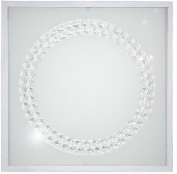 LUX LAMPA SUFITOWA PLAFON 29X29 16W LED 4000K BIAŁY DUŻY RING