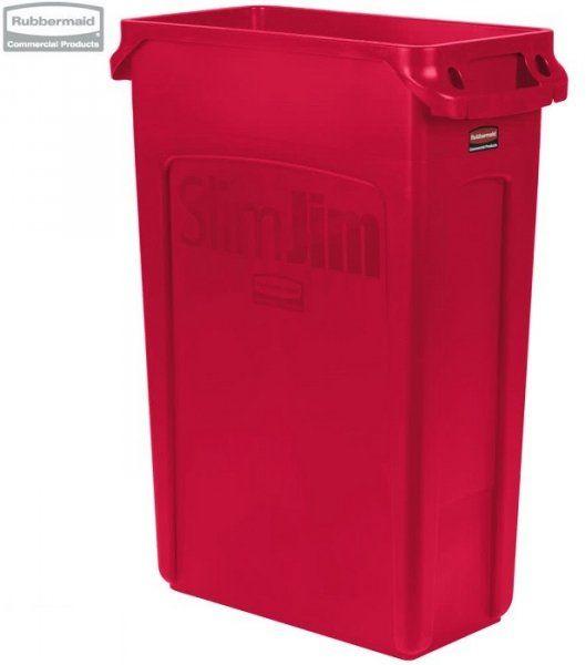 Kosz Slim Jim  With Venting 87L Red