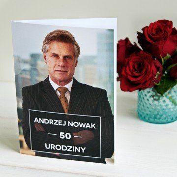 50 urodziny zdjęcie - kartka z życzeniami