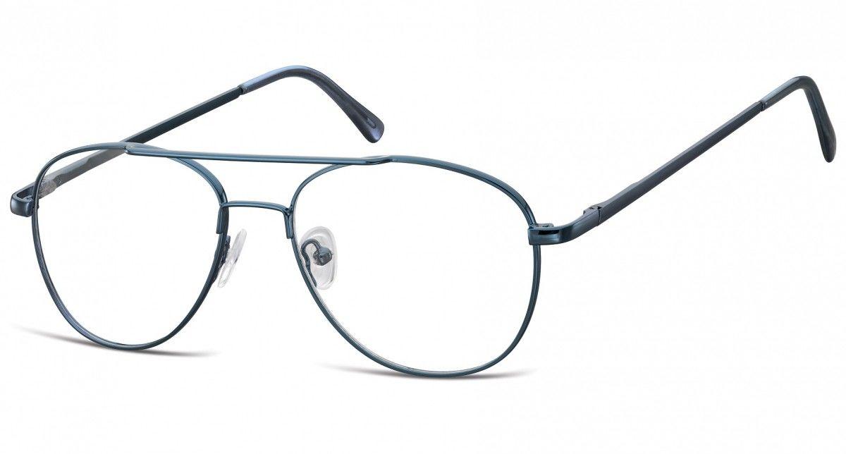 Okulary oprawki dziecięce zerówki Pilotki MK3-44C ciemno-niebieskie
