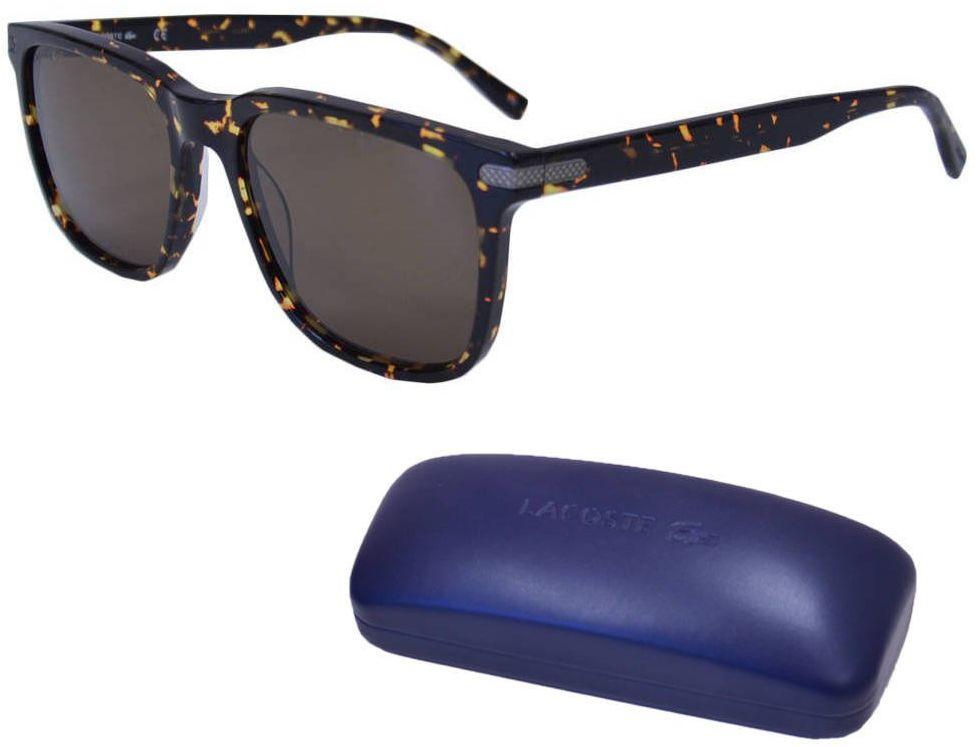 Okulary przeciwsłoneczne Lacoste męskie brązowe - L898S