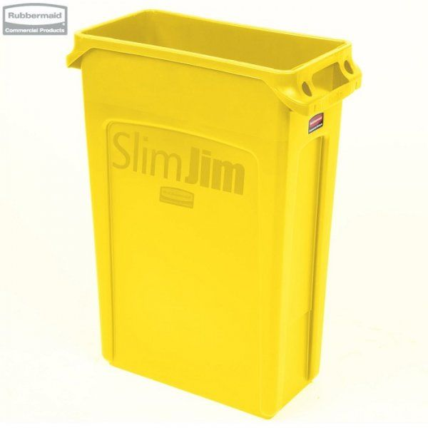 Kosz Slim Jim  With Venting 87L Yellow