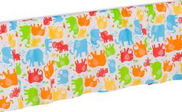 MAMO-TATO Falbanka do łóżeczka Słonie kolorowe