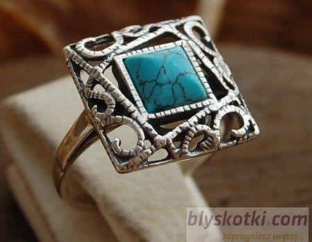 Laruna - srebrny pierścionek z turkusem