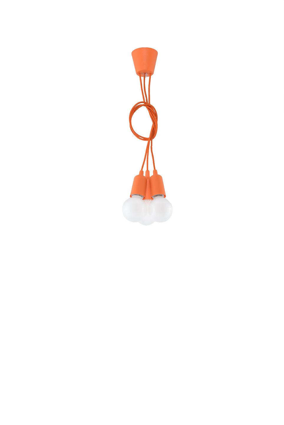 Lampa wisząca DIEGO 3 pomarańczowy - Sollux