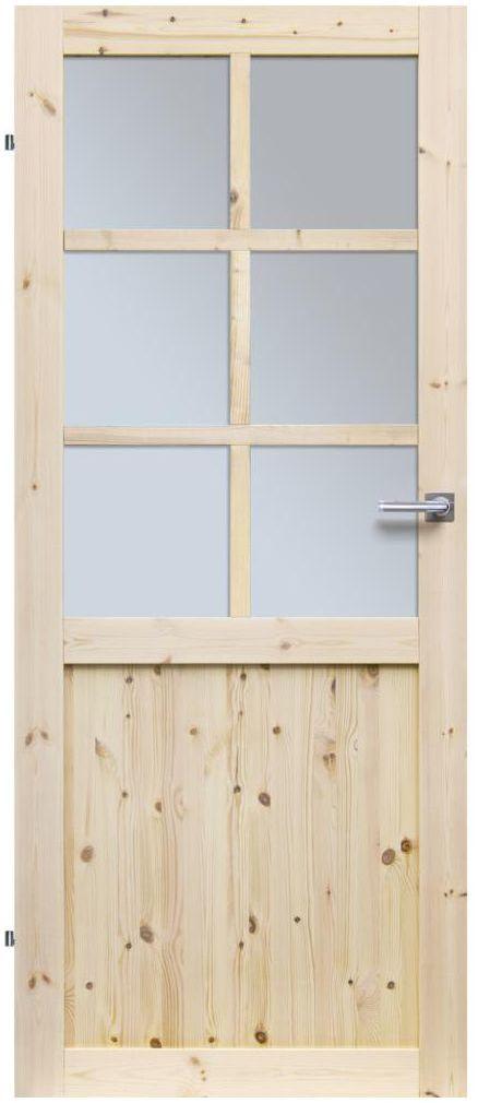 Skrzydło drzwiowe pokojowe drewniane EKO 80 Lewe RADEX