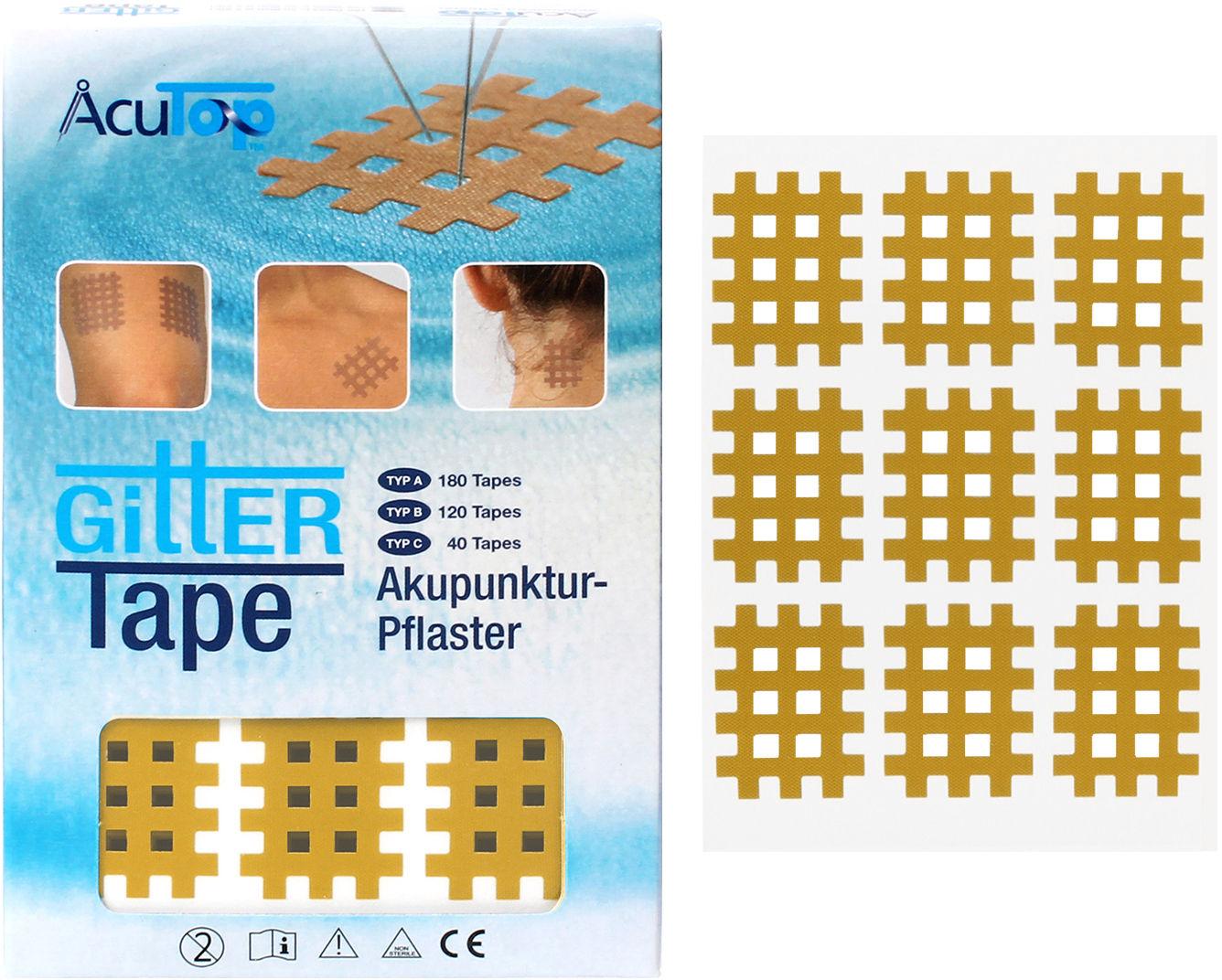 PrzeciwBÓLOWE plastry krzyżykowe na punkty spustowe Typ A - 180 tapes (Cross A ACT)