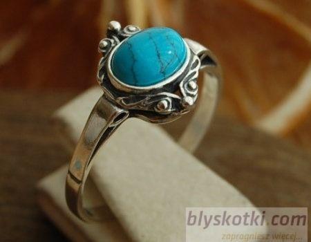 Allblue - srebrny pierścionek z turkusem
