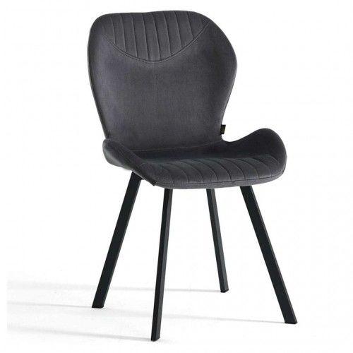 Krzesło welurowe ciemno szare DC-6350 / welur 21