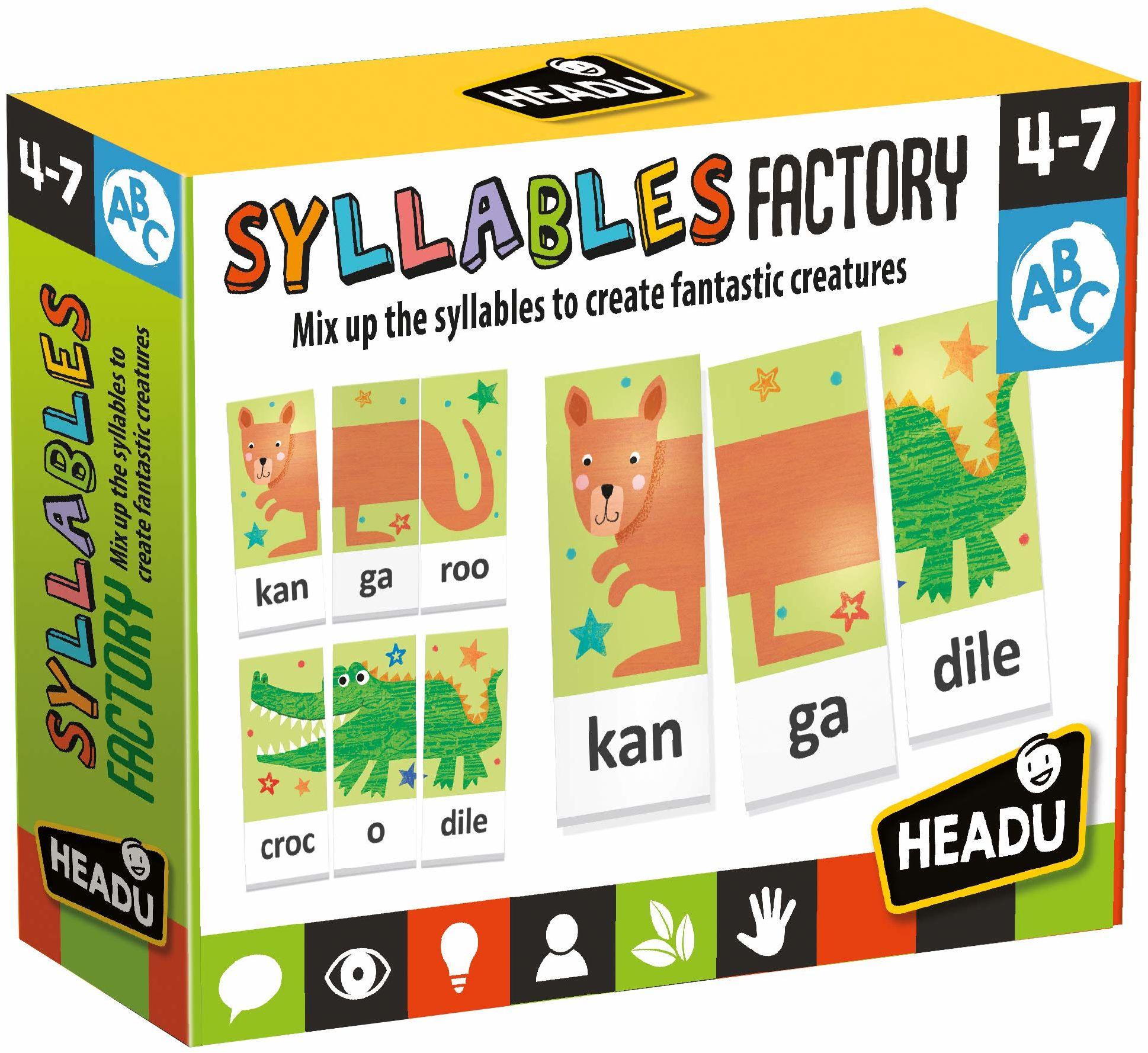Russell EN24636 HEADU Syllables Factory Cards