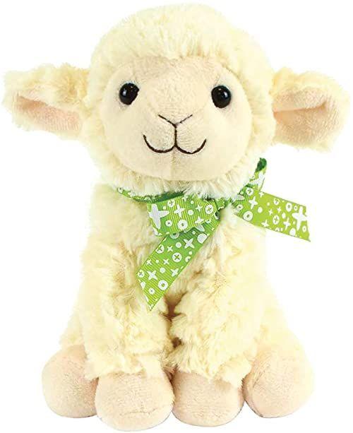 Jemini Pluszowe zwierzątko owca +/- 18 cm z kokardką 023906