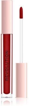 Makeup Revolution Lip Vinyl szminka w płynie by dodać włosom olśniewającego blasku odcień Ruby 3,6 ml