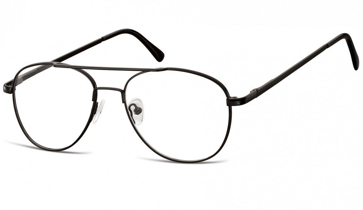 Okulary oprawki dziecięce zerówki Pilotki MK3-44 czarne