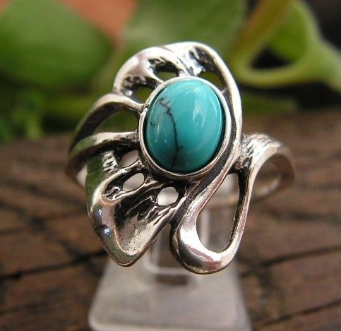 Blumila - srebrny pierścionek z turkusem