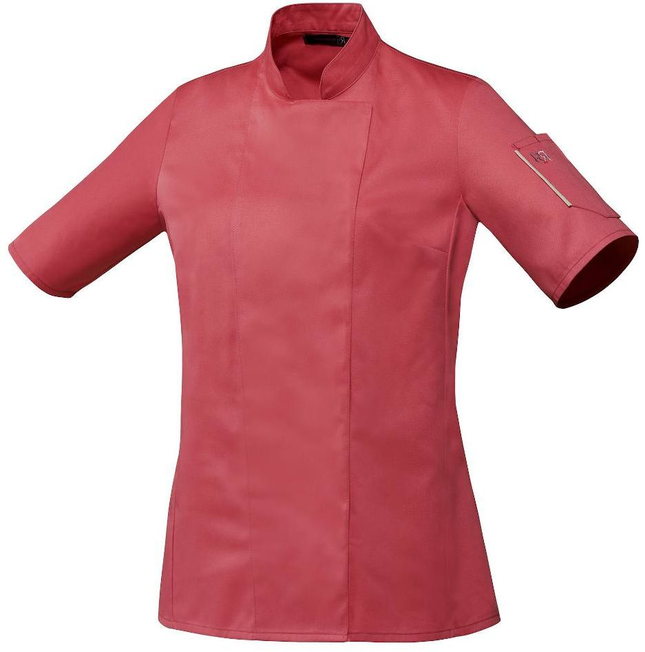 Bluza kucharska Unera malina krótki rękaw XS