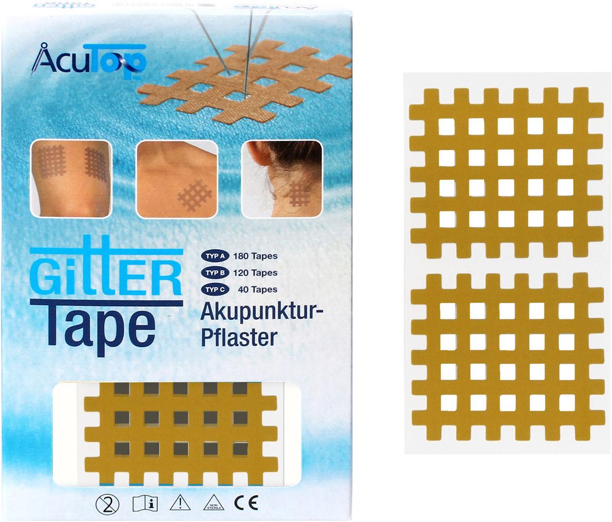 PrzeciwBÓLOWE plastry krzyżykowe na punkty spustowe Typ C - 40 tapes (Cross C ACT)