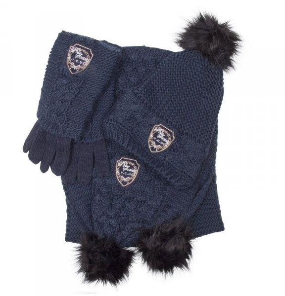 Komplet Hazelton czapka, szalik, rękawiczki - HV POLO