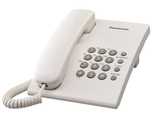 Telefon PANASONIC KX-TS500PDW WYBRANY PIĄTY PRODUKT ZA 1ZŁ