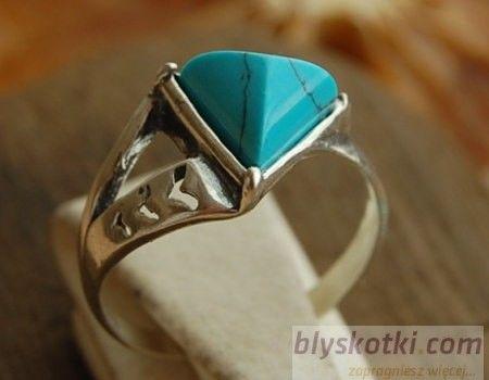 Vivoli - srebrny pierścionek z turkusem