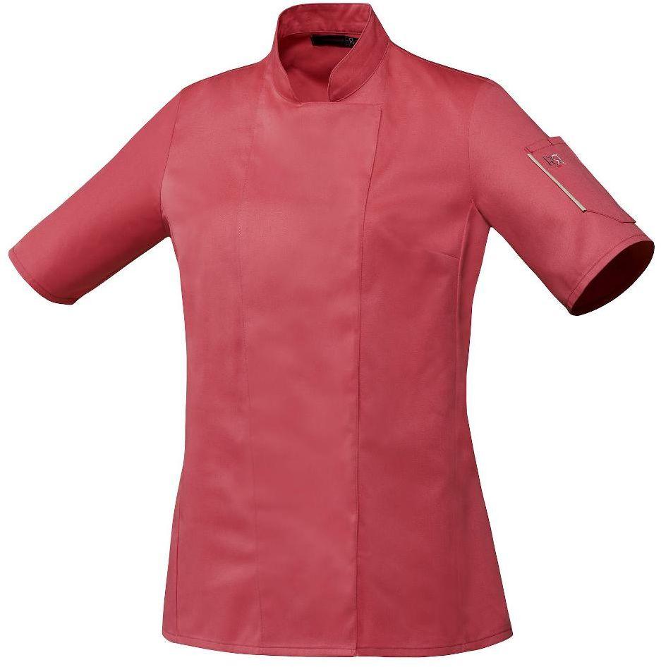 Bluza kucharska Unera malina krótki rękaw S