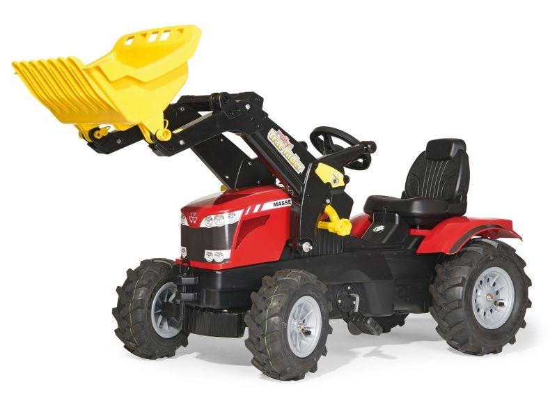 Rolly Toys rollyFarmtrac MASSEY FERGUSON Traktor na pedały z łyżką Pompowane koła LK