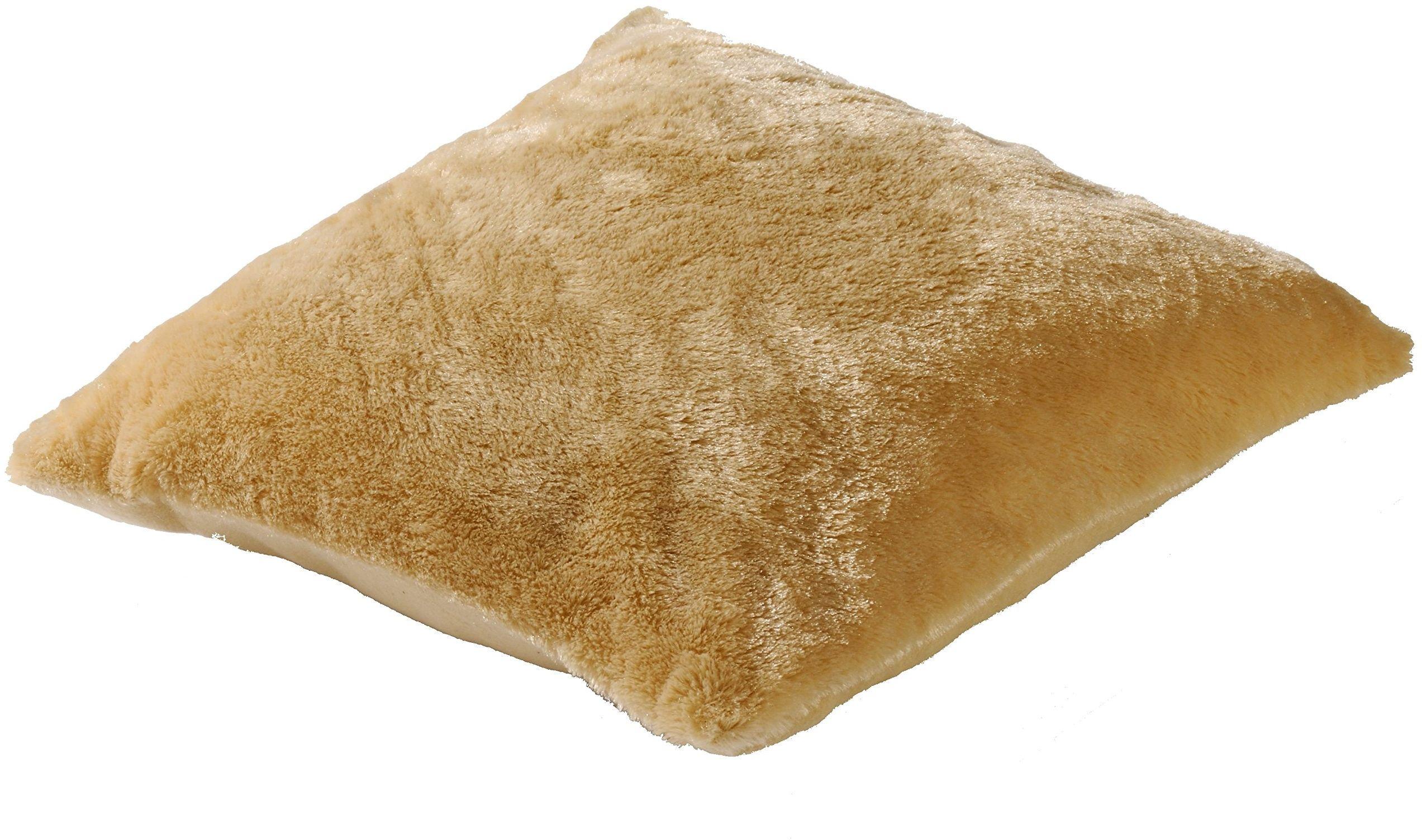 Poduszka niedźwiedź wilk, poliester, beżowy Camel L21, 40 x 40 cm