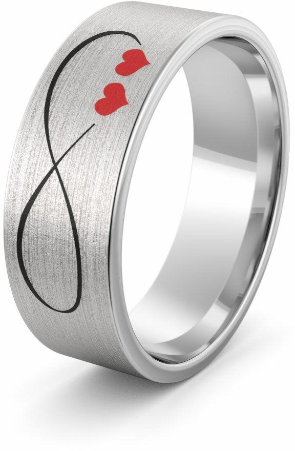 Obrączka srebrna ze znakiem nieskończoności - wzór Ag-386