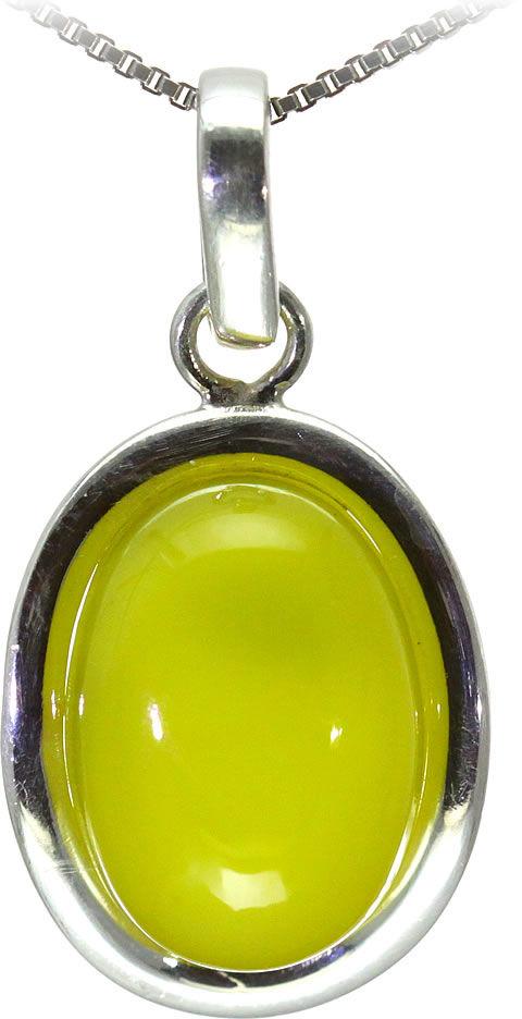 Kuźnia Srebra - Zawieszka srebrna, 34mm, Żółty Onyks, 6g, model