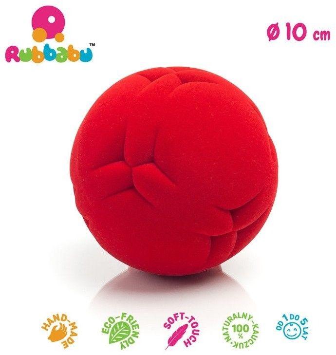 Rubbabu - Sensoryczna Piłeczka z Delikatną Fakturą Piłka Czerwona
